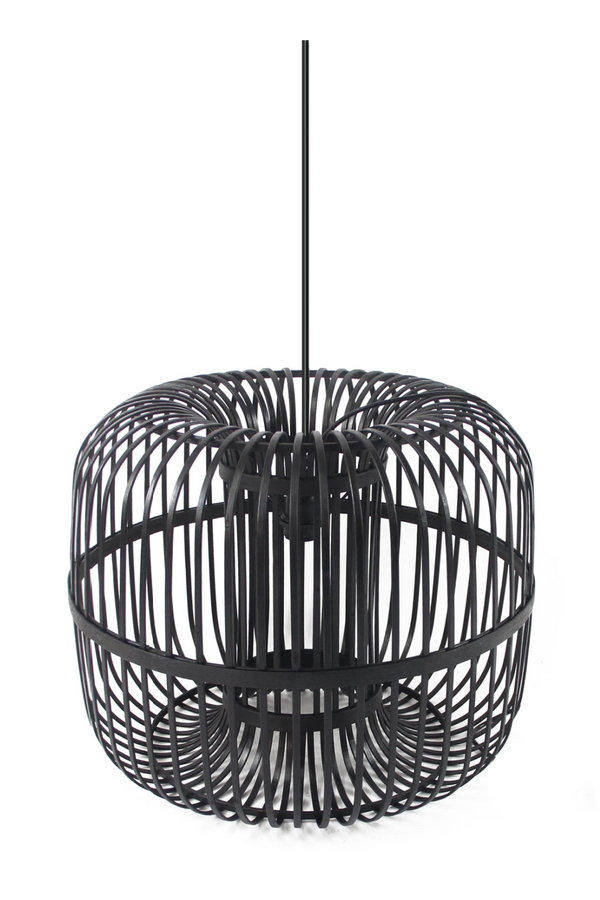 Black Bamboo Pendant Lamp (L) | By-Boo Sundown | DutchFurniture.com