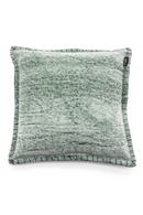Square Green Cotton Throw Pillows (2) | By Boo Crush | DutchFurniture.com