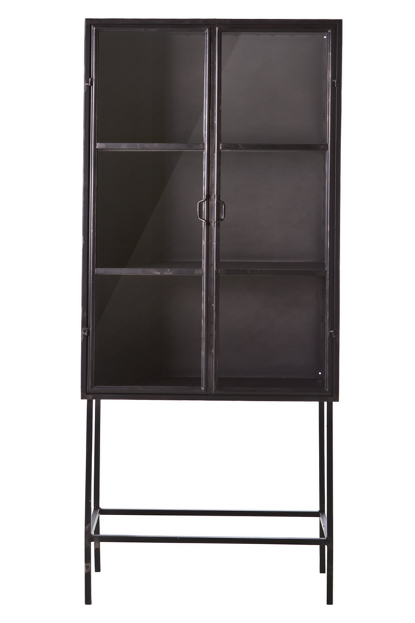 Industrial Black Metal Display Cabinet | By Boo Ventana | DutchFurniture.com
