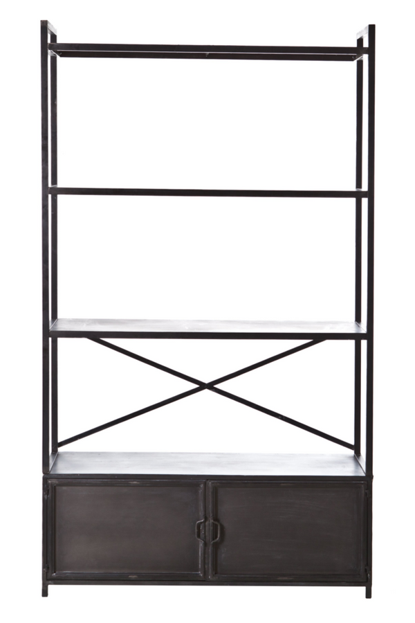 Industrial Black Metal Bookcase | By Boo Ventana | DutchFurniture.com