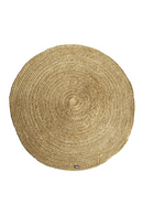 Round Yellow Natural Fiber Carpet (S) | By-Boo Jute | DutchFurniture.com