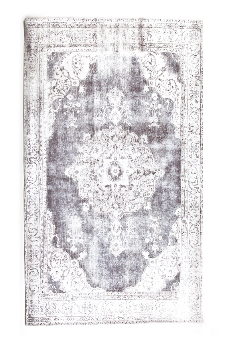 "Gray Rectangular Area Rug 6'5"" X 9'5"" 