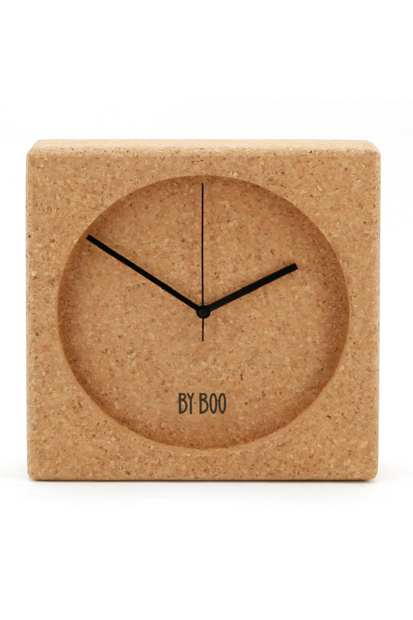 Natural Cork Decorative Clock | By-Boo Cork | DutchFurniture.com