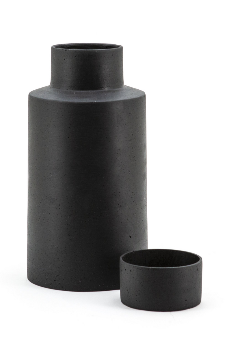 Black Stone Jar Vase (S) | By-Boo Ming | DutchFurniture.com