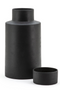 Black Cylindrical Stone Jar Vase - L | By-Boo Ming | DutchFurniture.com