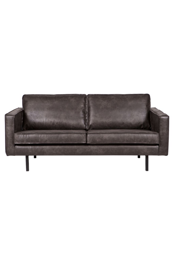 Black Leather 2.5 Seater Sofa | BePureHome Rodeo | DutchFurniture.com