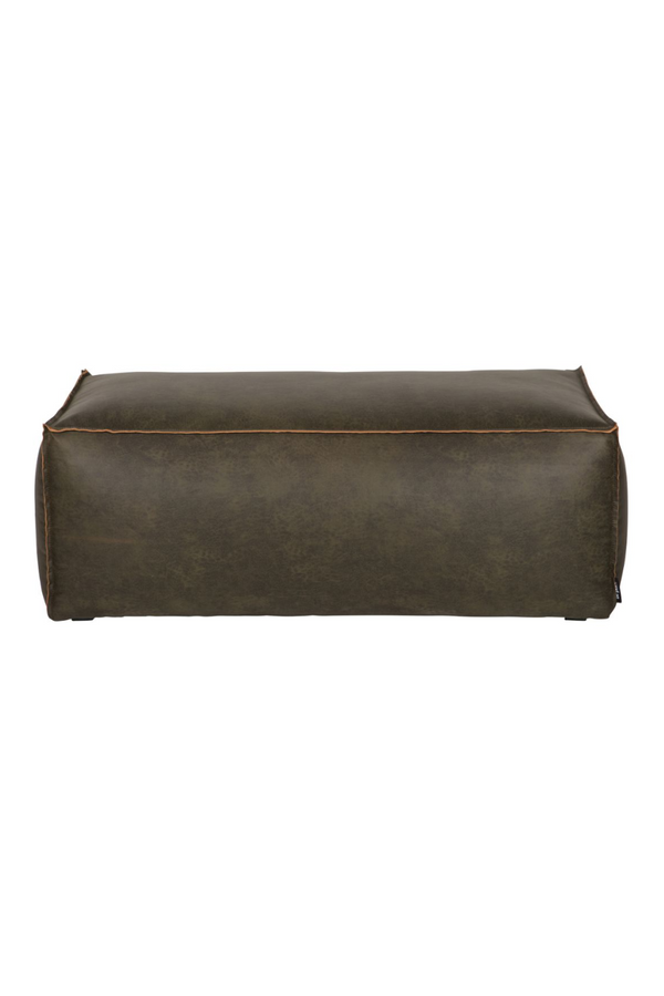 Army Leather Accent Pouf | BePureHome Rodeo | DutchFurniture.com