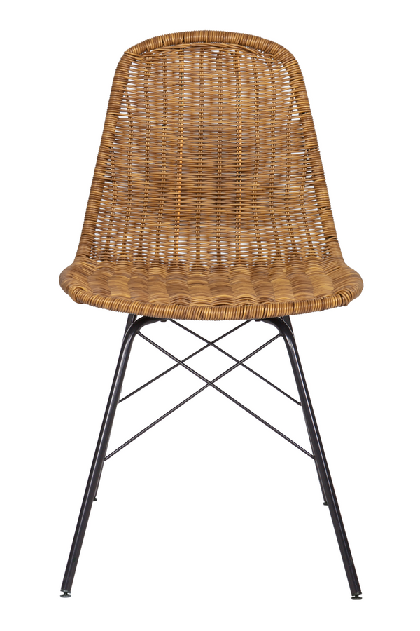 Natural Woven Dining Chairs (2) | BePureHome Spun | DutchFurniture.com
