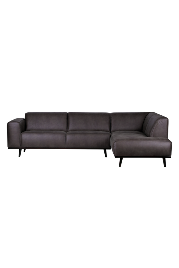 Gray Leather Right Corner Sofa | BePureHome Statement | Dutchfurniture.com