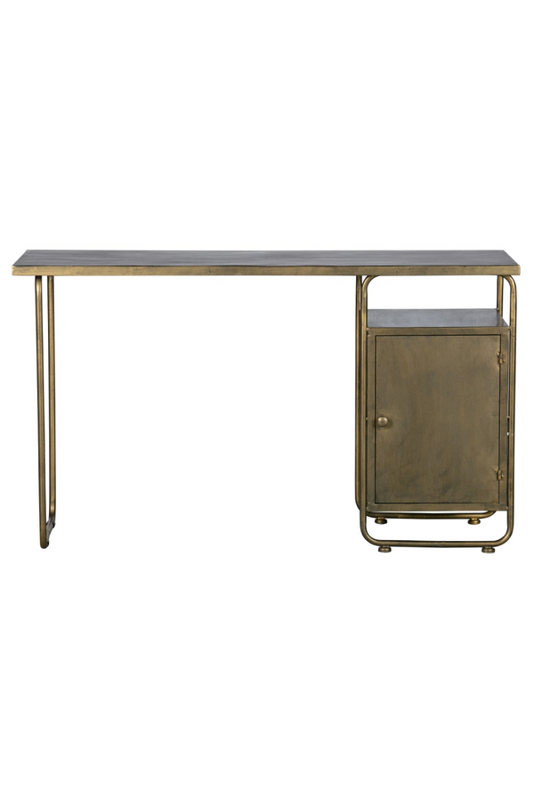 Antique Brass Home Desk | BePureHome Veteran | DutchFurniture.com