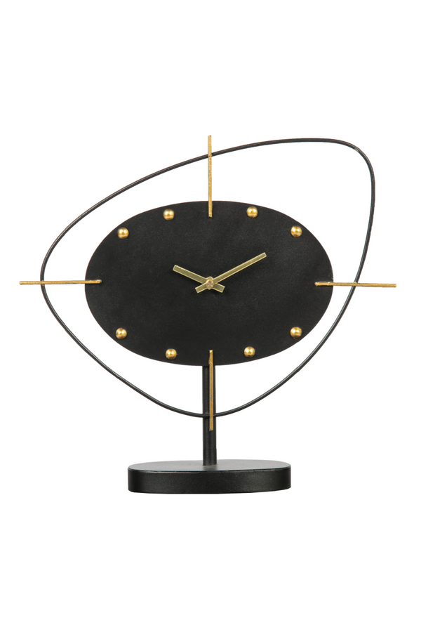 Black Metal Desk Clock | BePureHome One o'clock | DutchFurniture.com