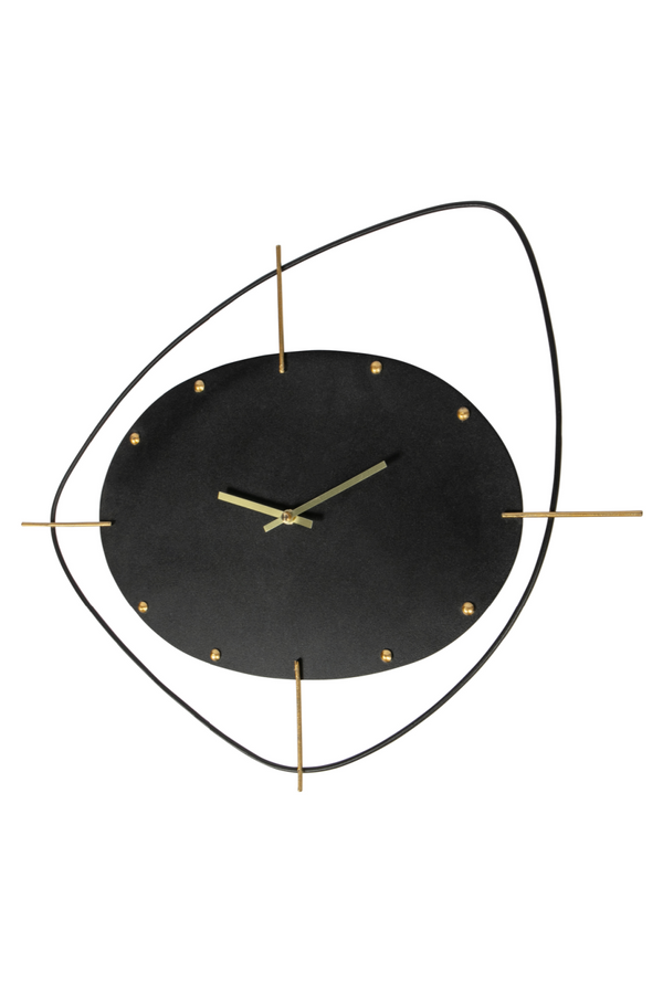 Black Metal Wall Clock | BePureHome Two o'clock | DutchFurniture.com
