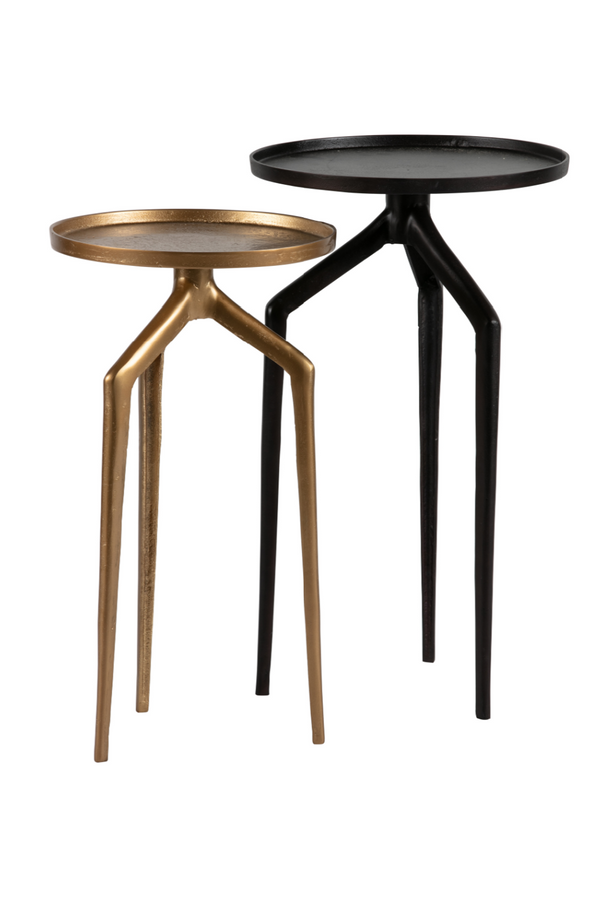 Brass / Black Side Table Set (2) | BePureHome Mosquito | DutchFurniture.com