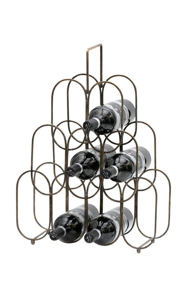Antique Brass Wine Rack | BePureHome Feast | DutchFurniture.com