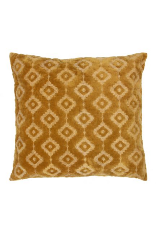 Mustard Velvet Throw Pillows (2) | BePureHome Bricks | DutchFurniture.com