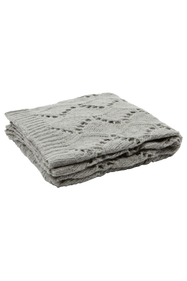 Gray Knitted Throw Blanket | BePureHome Sense | DutchFurniture.com