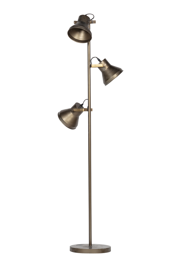 Antique BrassFloor Lamp | BePureHome Triplet | DutchFurniture.com