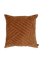 Orange Velvet Throw Pillows (2) | BePureHome Stroke | DutchFurniture.com