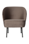 Nougat Velvet Accent Chair | BePureHome Vogue | Dutchfurniture.com