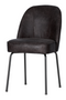 Black Leather Dining Chairs (2) | BePureHome Vogue | DutchFurniture.com