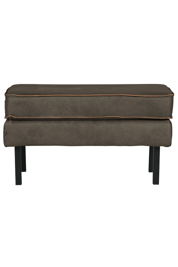 Army Leather Ottoman | BePureHome Rodeo | DutchFurniture.com