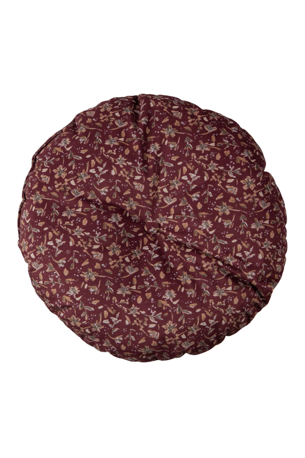 Maroon Floral Cushions (2) | BePureHome Vogue | DutchFurniture.com