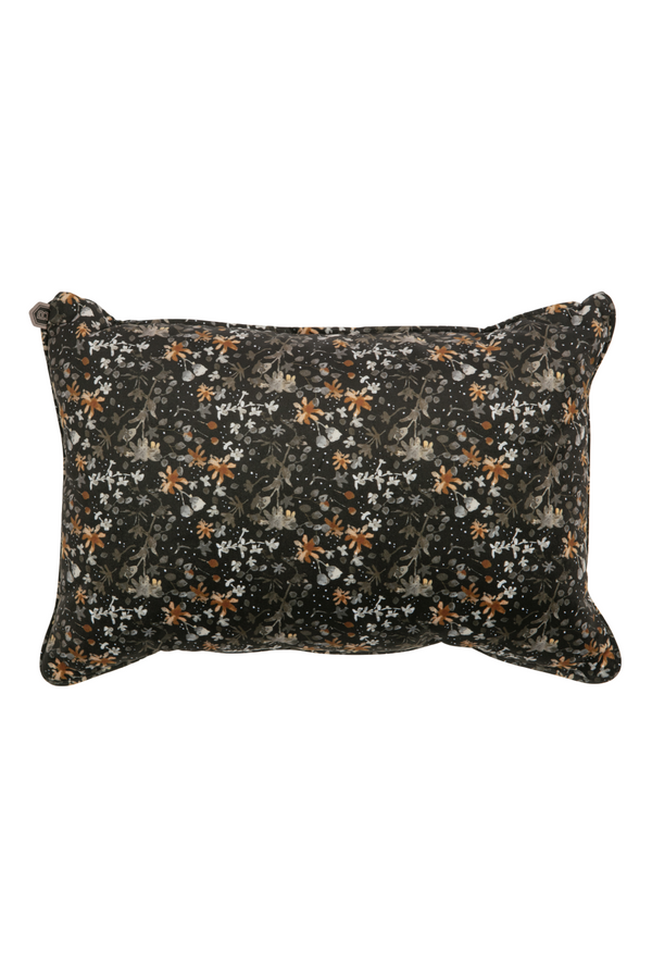 Black Rectangular Floral Cushions (2) | BePureHome Vogue | DutchFurniture.com