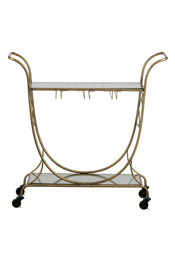 Antique Brass Trolley | BePureHome Push | Dutchfurniture.com