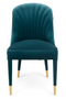 Blue Velvet Dining Chairs (2) | Bold Monkey Give Me More | DutchFurniture.com