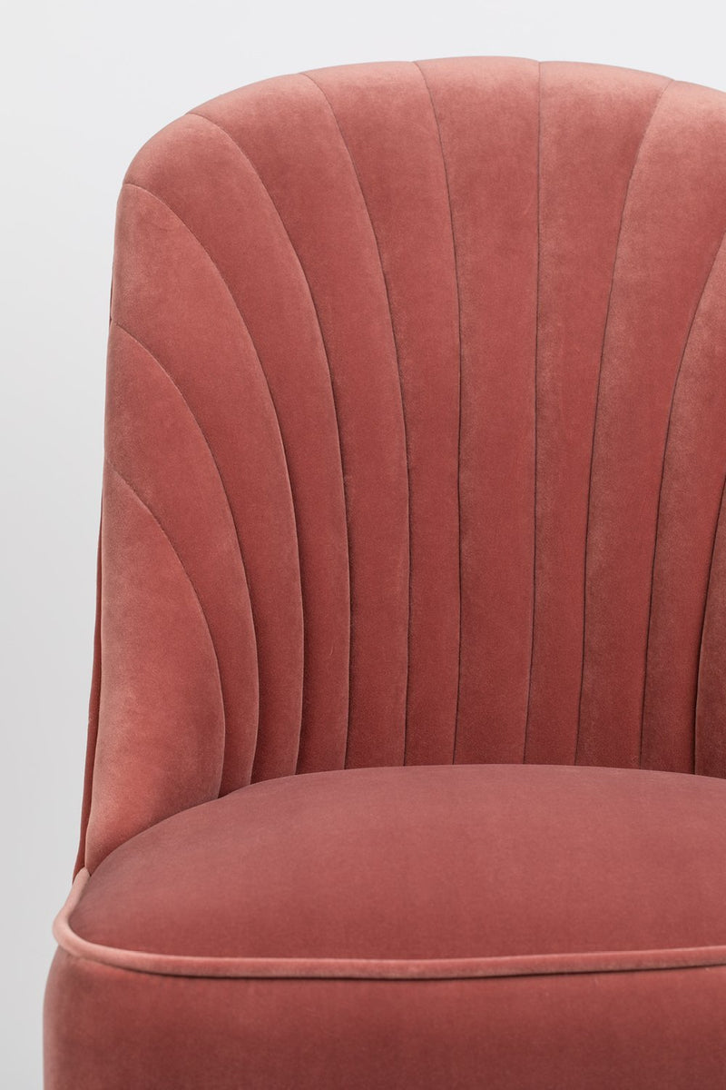 Pink Velvet Dining Chairs (2) | Bold Monkey Give Me More | DutchFurniture.com