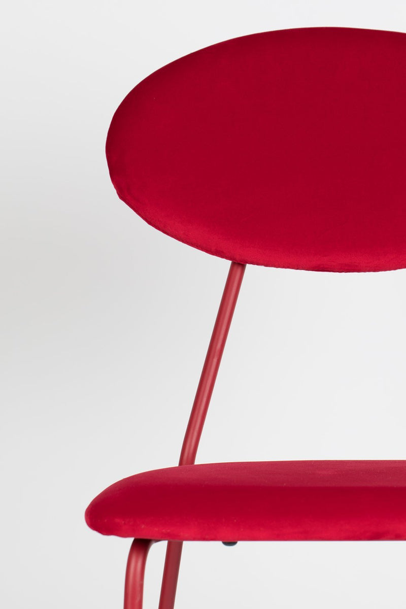 Red Velvet Dining Chairs (2) | Bold Monkey Kiss The Froggy | DutchFurniture.com