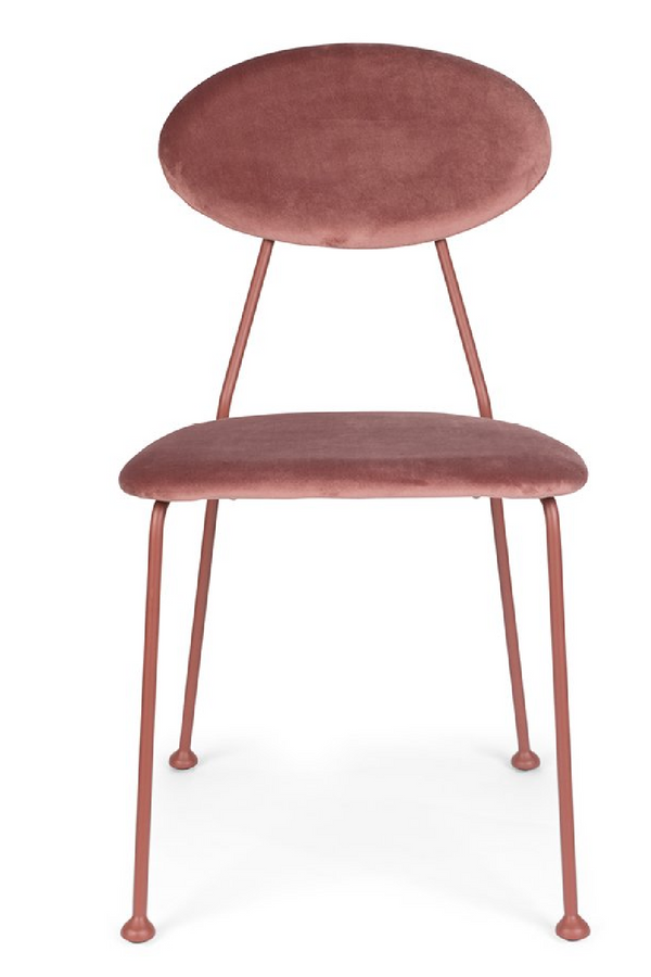 Pink Velvet Dining Chairs (2) | Bold Monkey Kiss The Froggy | DutchFurniture.com