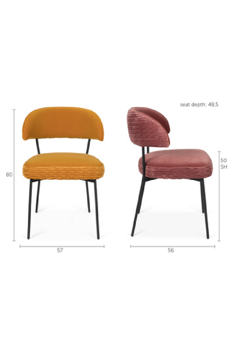 Amber Velvet Dining Chairs (2) | Bold Monkey The Winner | DutchFurniture.com