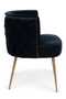 Dark Blue Barrel Dining Chair | Bold Monkey Such A Stud | DutchFurniture.com