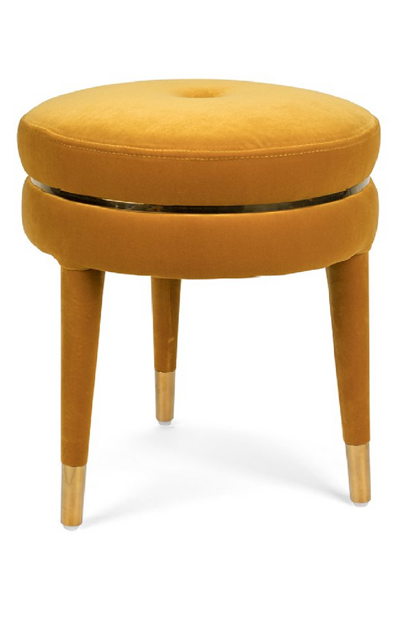 Amber Velvet Accent Stool | Bold Monkey I Am Not A Macaron| DutchFurniture.com
