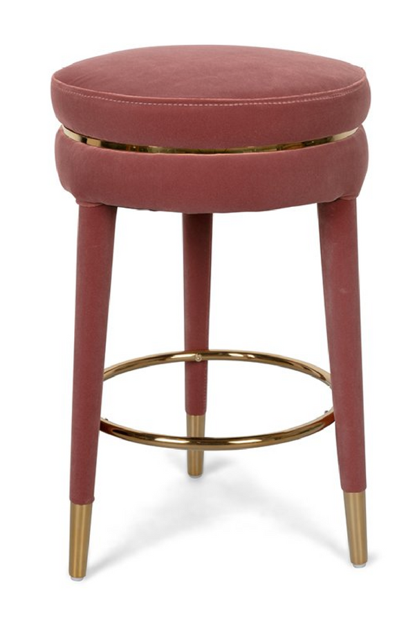Pink Velvet Counter Stool | Bold Monkey I Am Not A Macaron | DutchFurniture.com