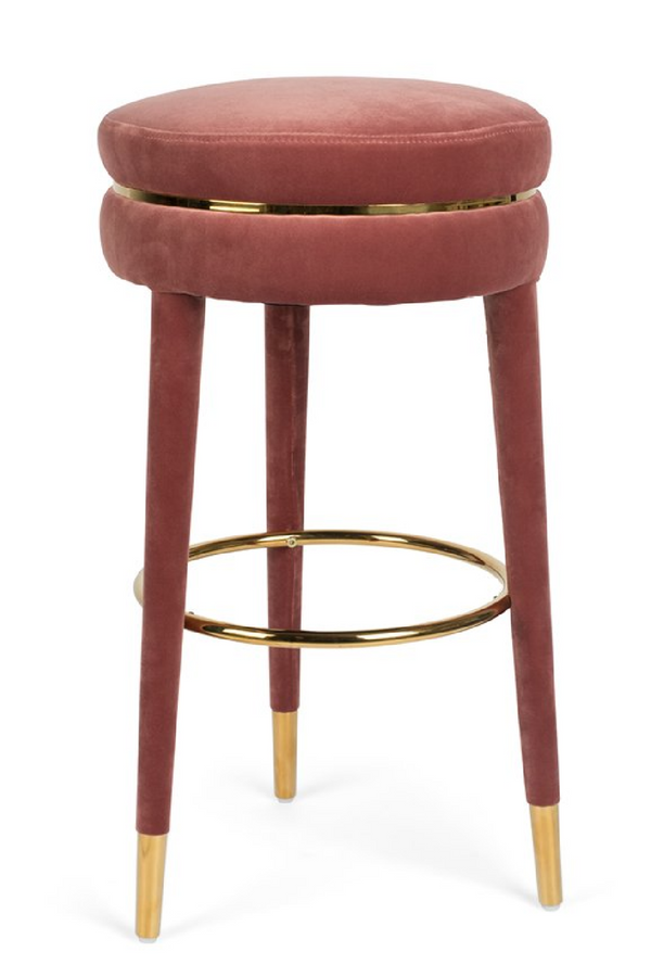 Pink Velvet Barstool | Bold Monkey I Am Not A Macaron | DutchFurniture.com