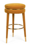 Amber Velvet Barstool | Bold Monkey I Am Not A Macaron | DutchFurniture.com