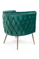 Teal Tufted Barrel Chair | Bold Monkey Such A Stud | DutchFurniture.com