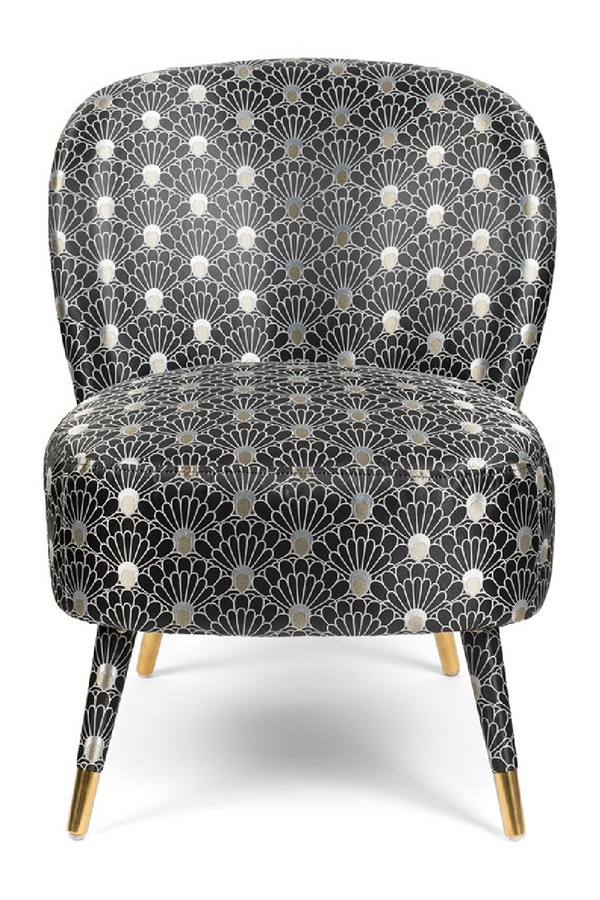 Upholstered Peacock Pattern Chair | Bold Monkey Well Dressed Cocktail | DutchFurniture.com
