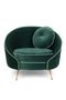 Dark Green Velvet Accent Chair | Bold Monkey Don't Love Me | DutchFurniture.com