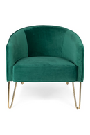 Hairpin Royal Green Barrel Chair | Bold Monkey Queenalicious | DutchFurniture.com