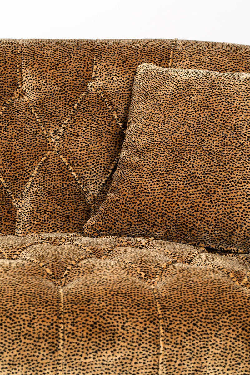 Curved Tufted Brown Velvet Sofa | Bold Monkey Too Pretty To Sit On | DutchFurniture.com