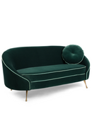 Dark Green Velvet Sofa | Bold Monkey Don't Love Me