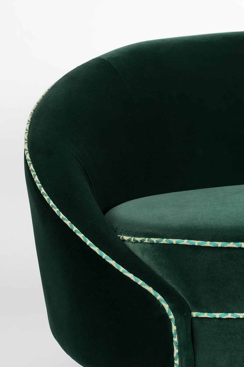 Dark Green Velvet Sofa | Bold Monkey Don't Love Me | DutchFurniture.com