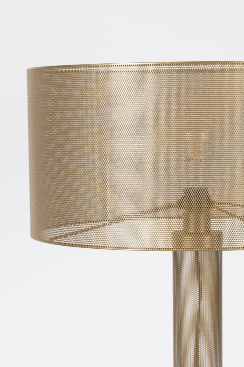 Gold Mesh Floor Lamp | Bold Monkey Sweet Mesh  | DutchFurniture.com
