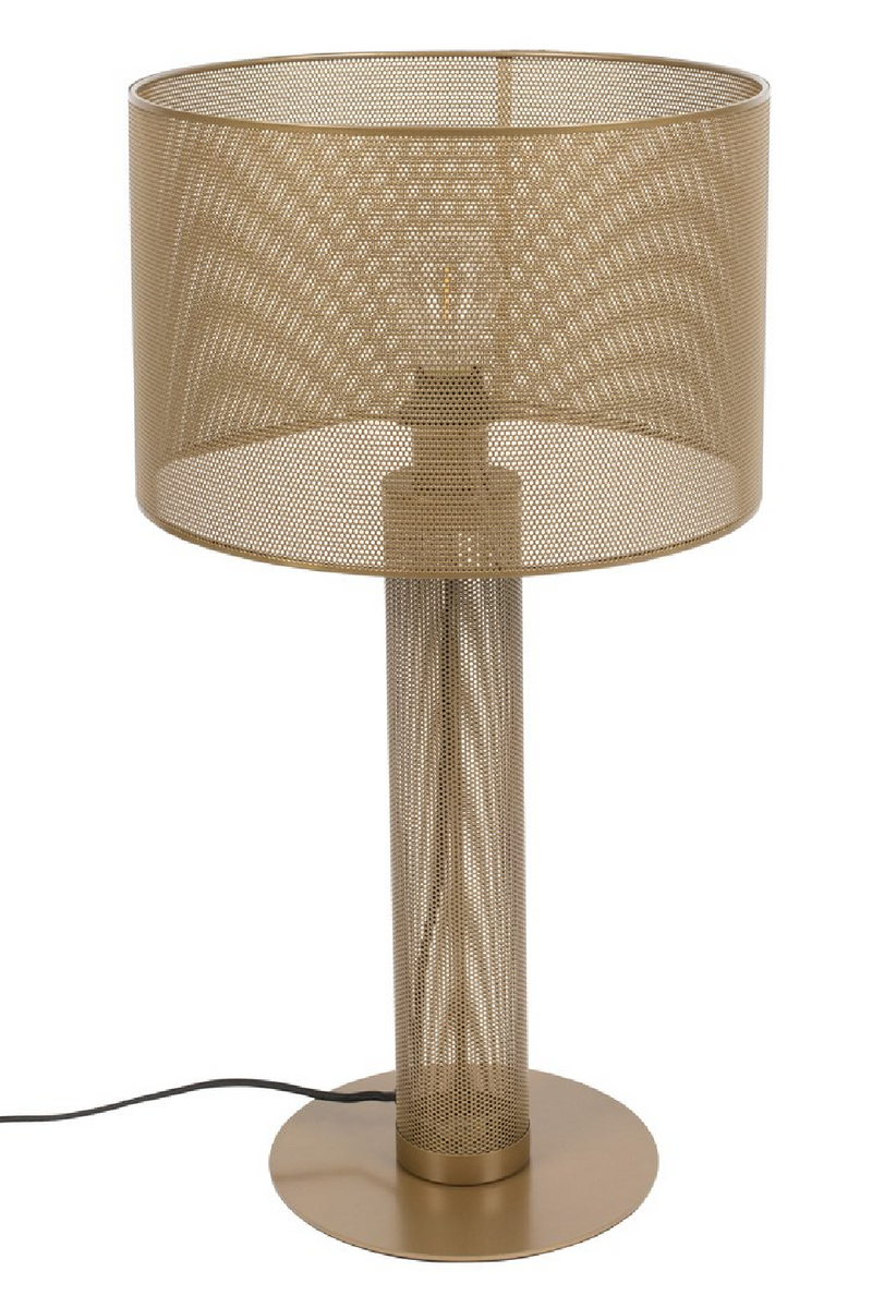 Gold Mesh Table Lamp | Bold Monkey Sweet Mesh | DutchFurniture.com