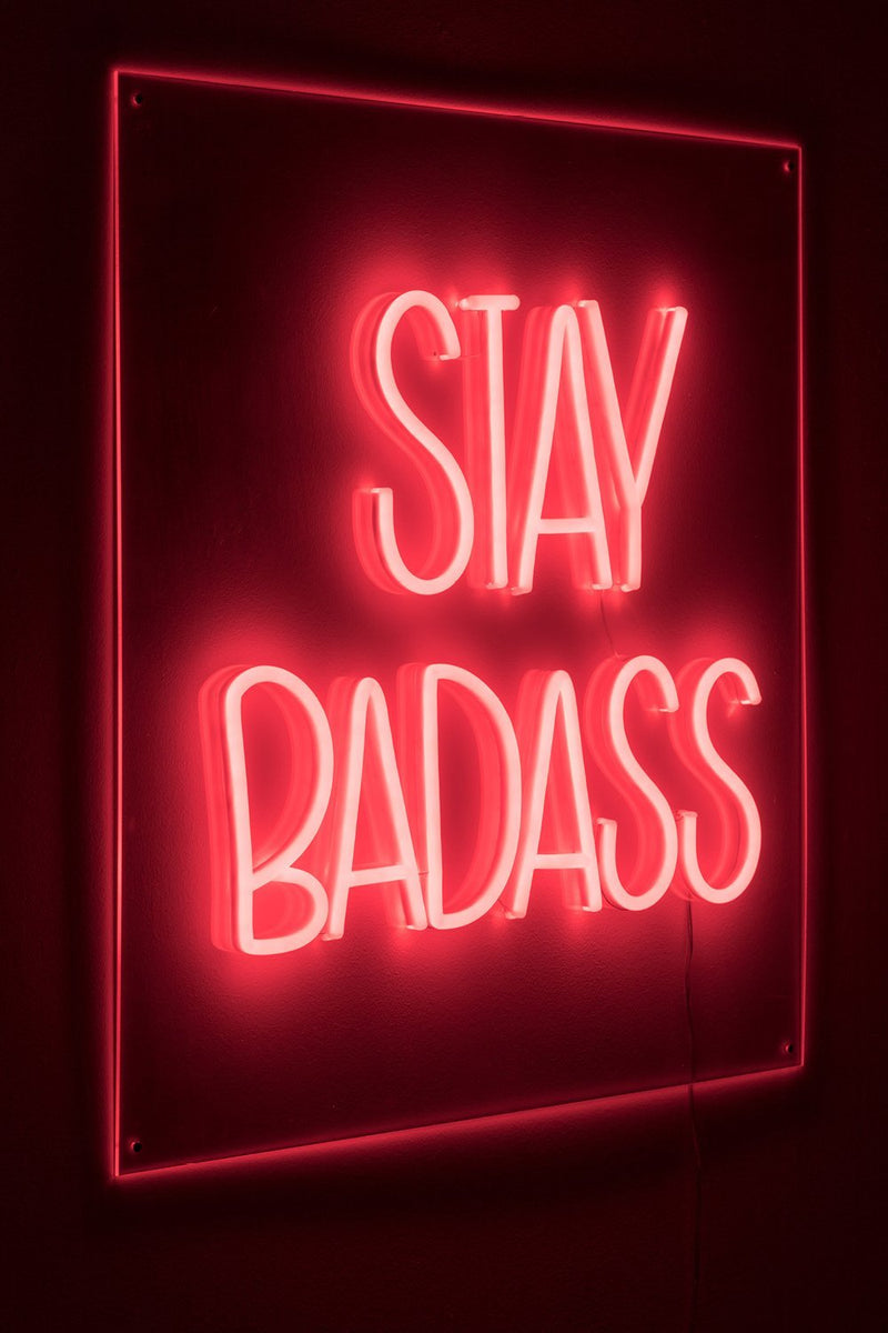 LED red neon sign | Bold Monkey Badass Non Social | DutchFurniture.com