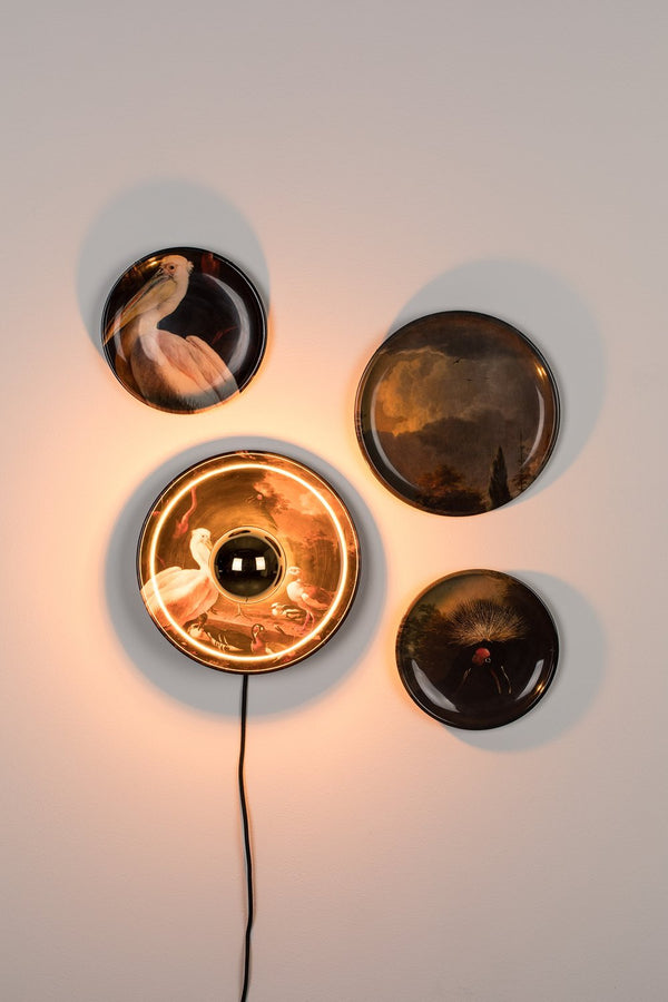 Bird Print Wall Lamps (4) | Bold Monkey No Food Here Birds | DutchFurniture.com