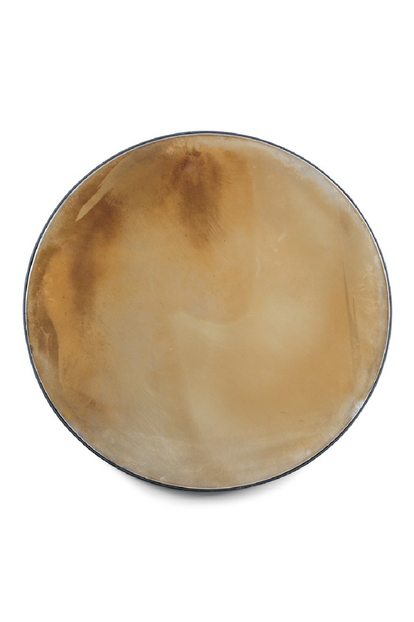Gray Mottled Round Mirror XXL | Bold Monkey Peek Into The Cosmos | DutchFurniture.com